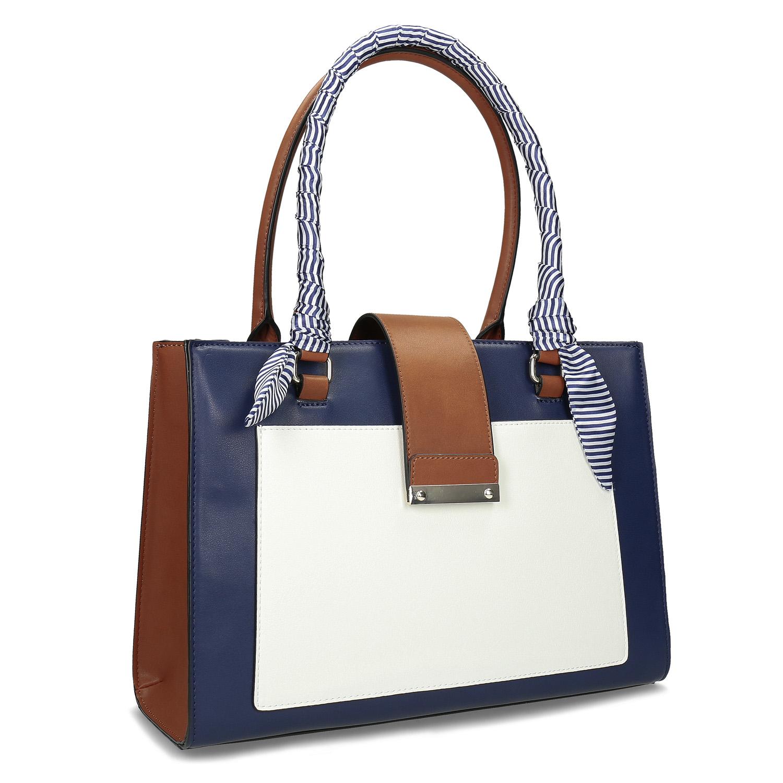 7e27d96a55 Dámská kabelka modrá se šátkem