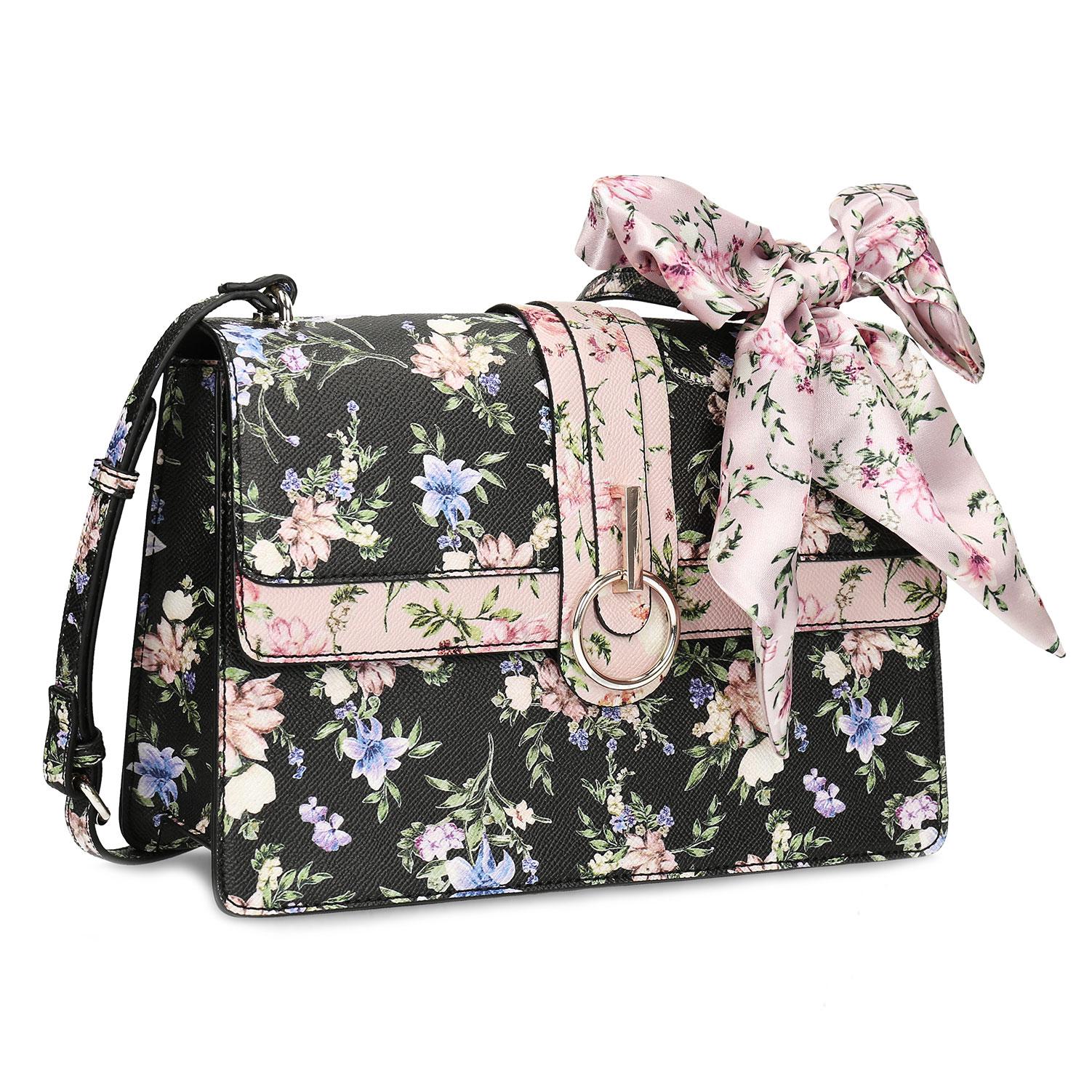 Dámská crossbody kabelka květinový vzor