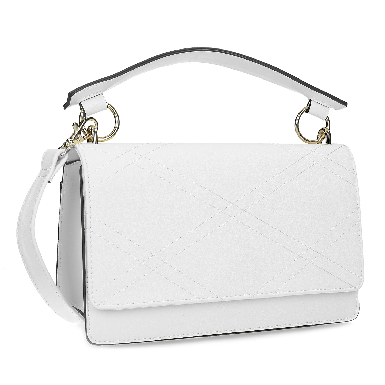 Bílá dámská kabelka s prošitím