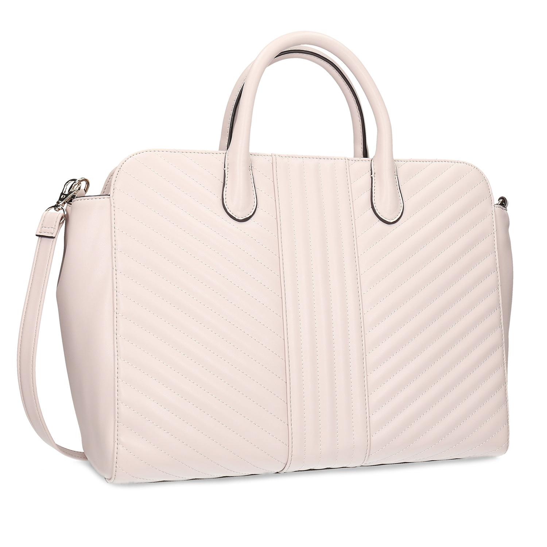 Růžová dámská kabelka s prošitím