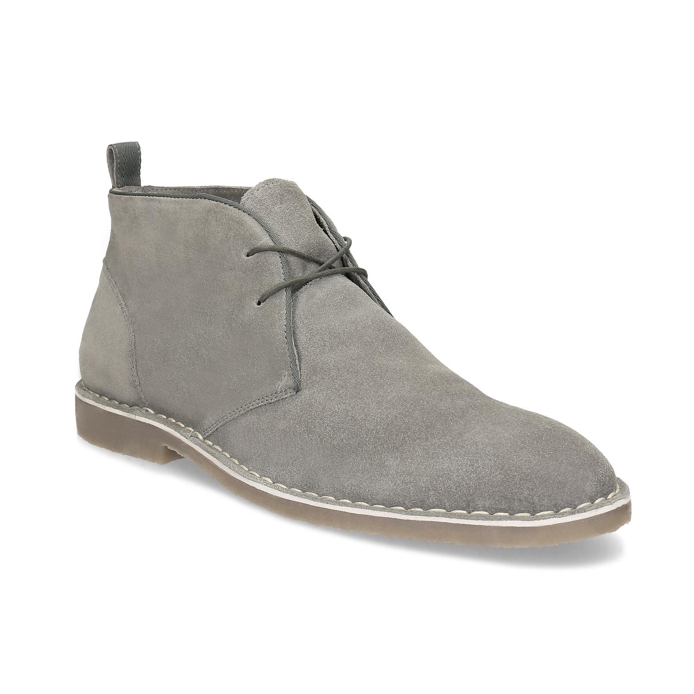 Pánské kožené Desert Boots šedé