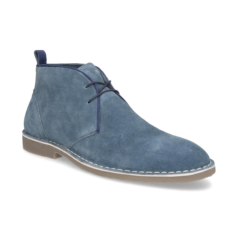 Pánske kožené Desert Boots modré
