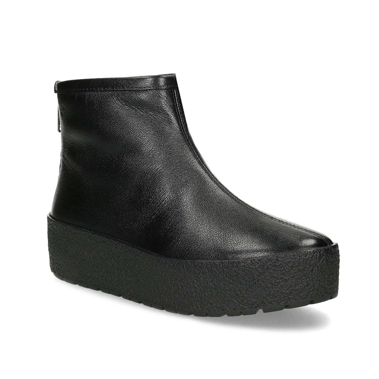 Kotníčková obuv na flatformě zimní