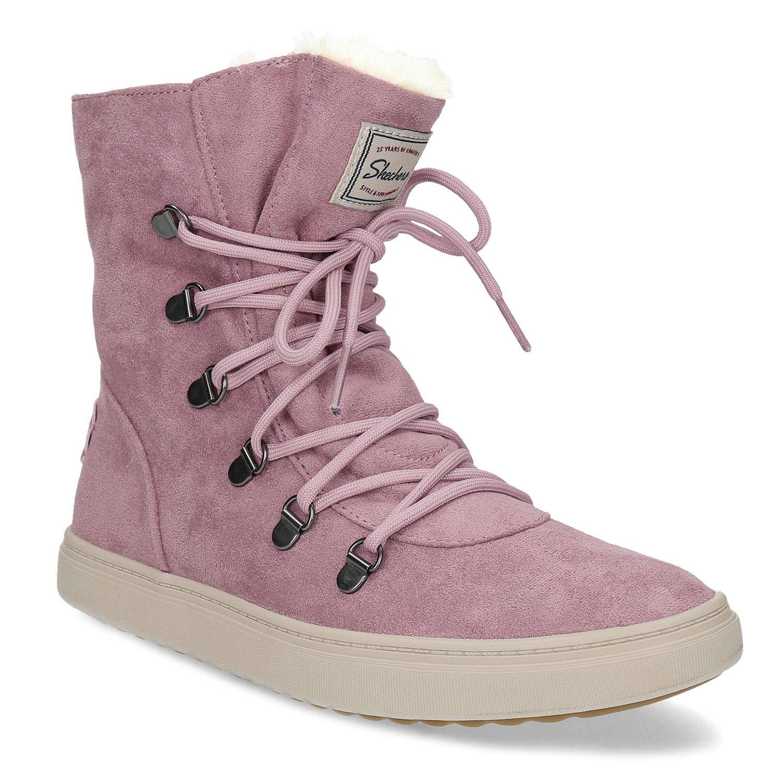 Dámská růžová zimní obuv se zateplením