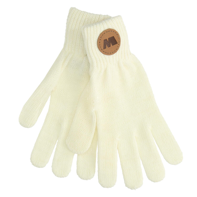 Krémové textilní rukavice