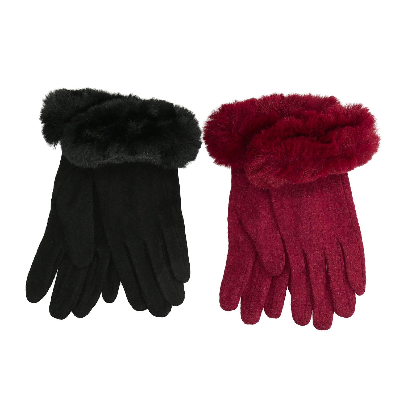 Dámské rukavice s kožíškem