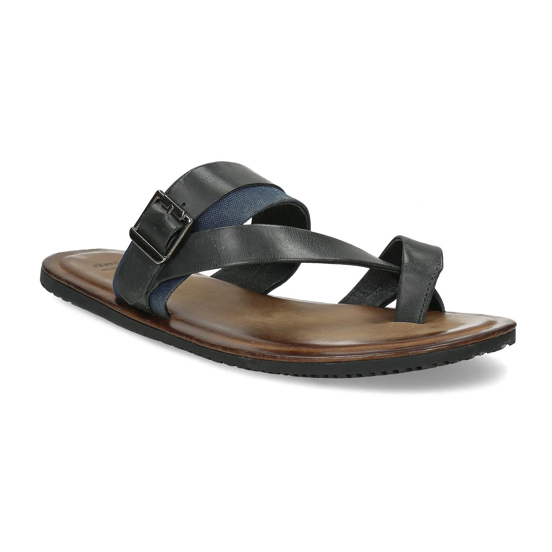 Tmavošedé pánske sandále