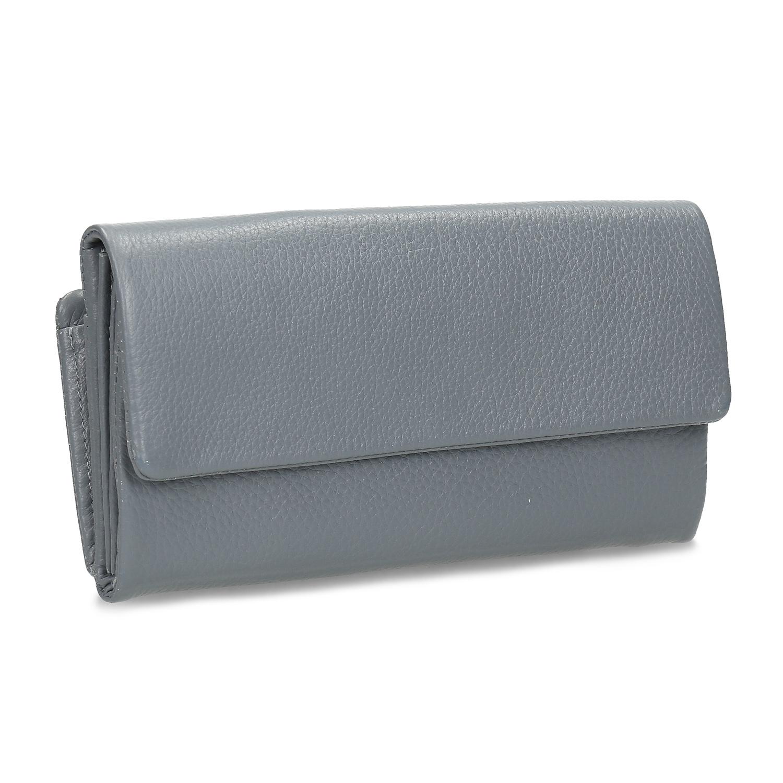 Šedá dámska kožená peňaženka