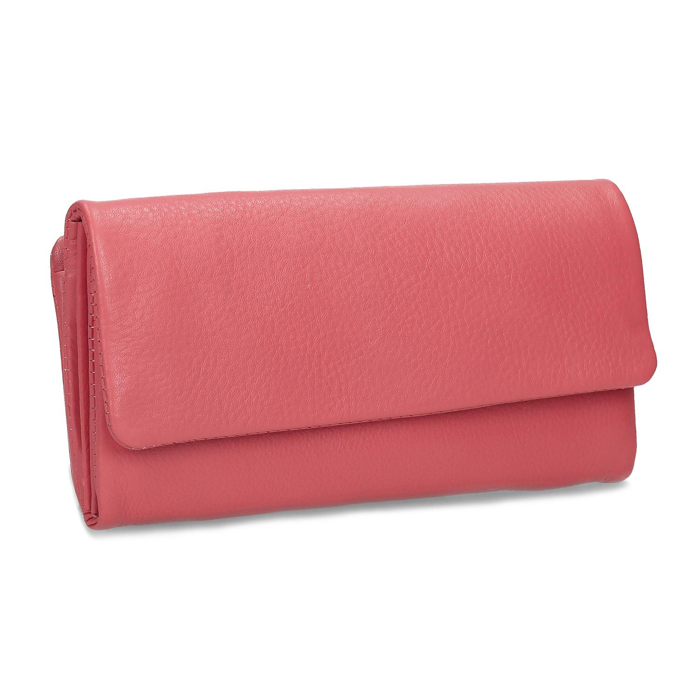Dámska kožená peňaženka ružová