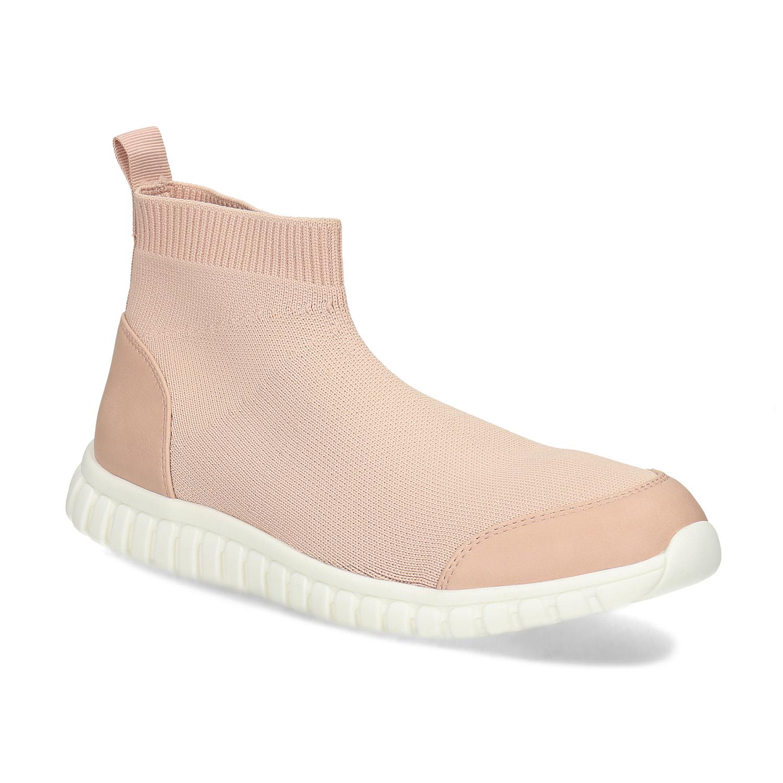 Růžová dámská kotníčková obuv