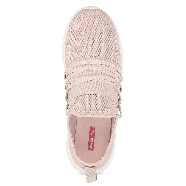 Růžové dámské tenisky na bílé podešvi