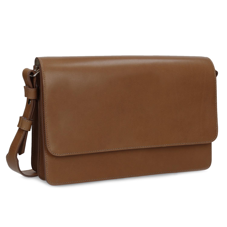 Kožená hnedá listová kabelka