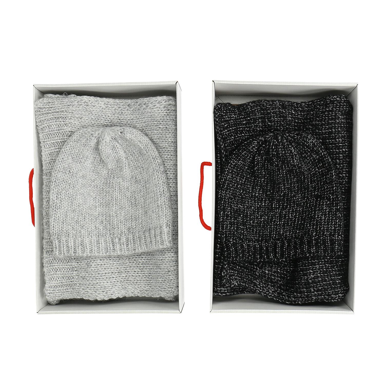 Sada pletené šály a čepice