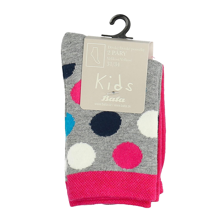 Dětské vysoké ponožky puntíkaté růžové