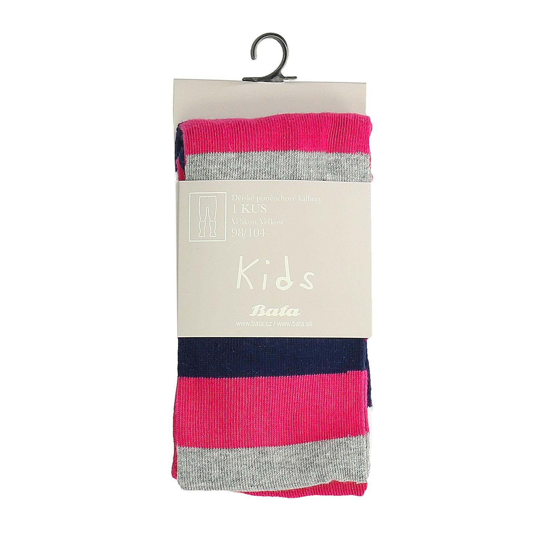 Detské ružové pruhované pančuchové nohavice