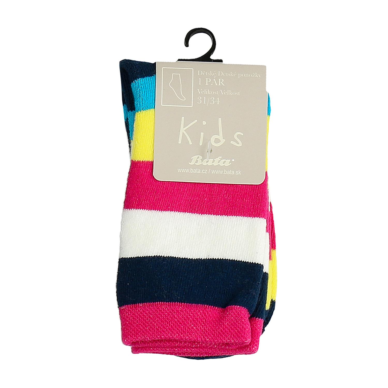 Vysoké dětské pruhované ponožky