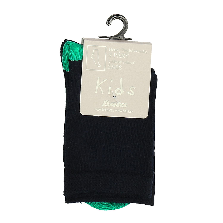 Dětské vysoké zelené ponožky