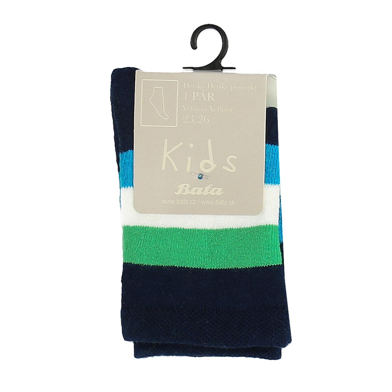 Dětské vysoké ponožky s proužky