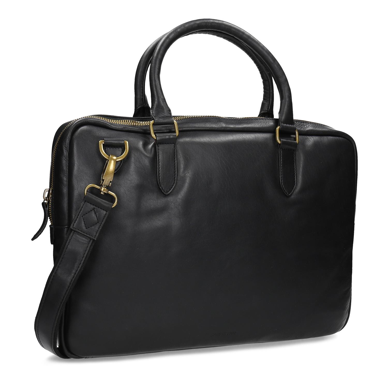 Kožená černá taška s popruhem