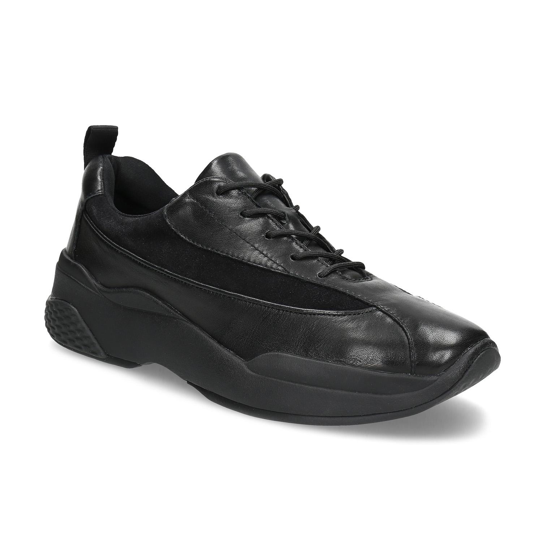 Černé dámské kožené tenisky