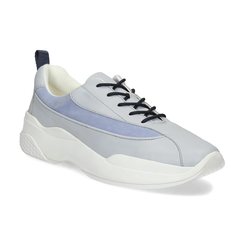 Modré kožené dámské tenisky