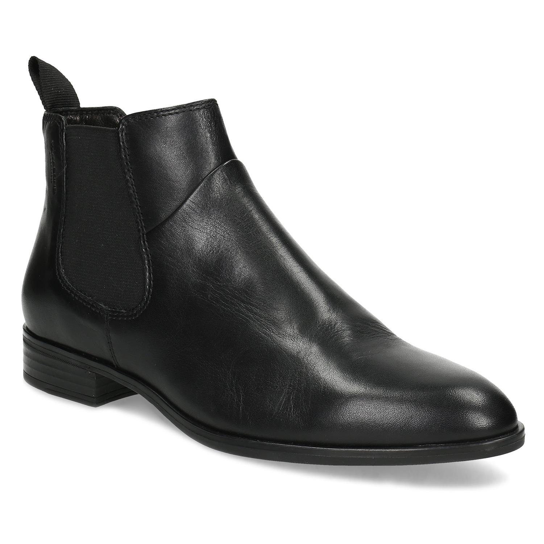 Dámská černá kožená Chelsea obuv