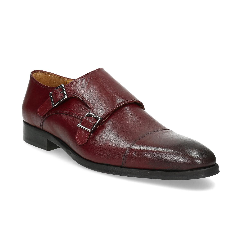 Pánské kožené Monk Shoes polobotky