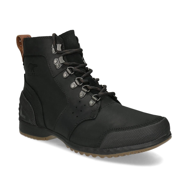 Pánská černá zimní kotníčková obuv