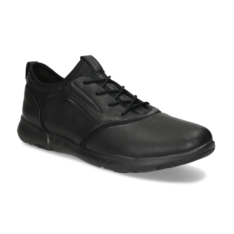 Pánské černé kožené tenisky