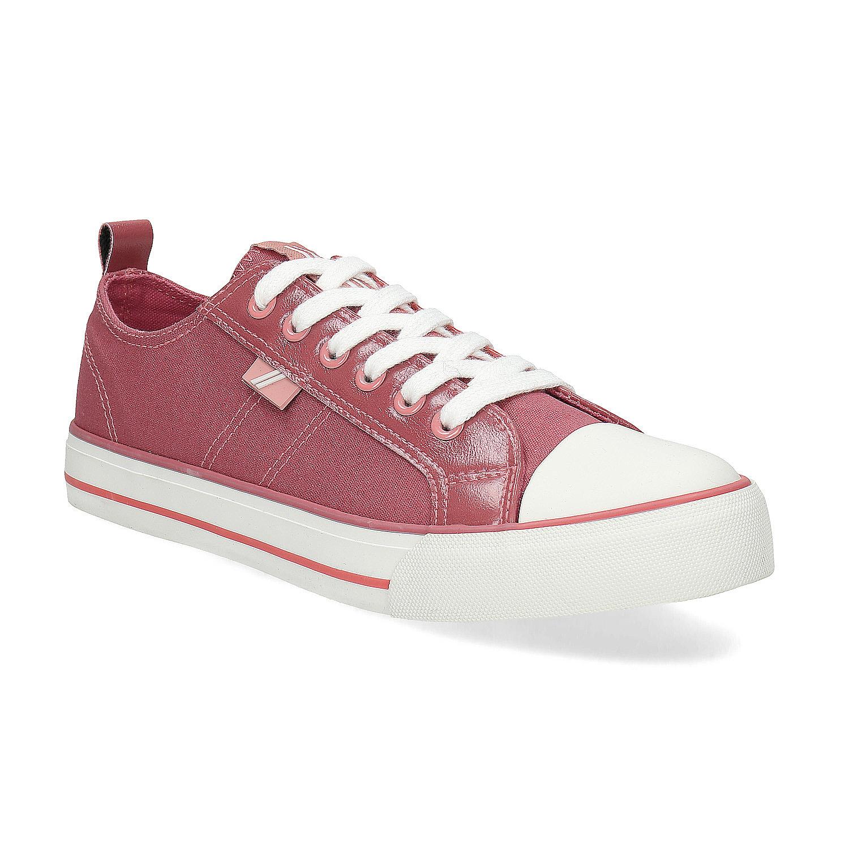 Ružové plátené tenisky dámske