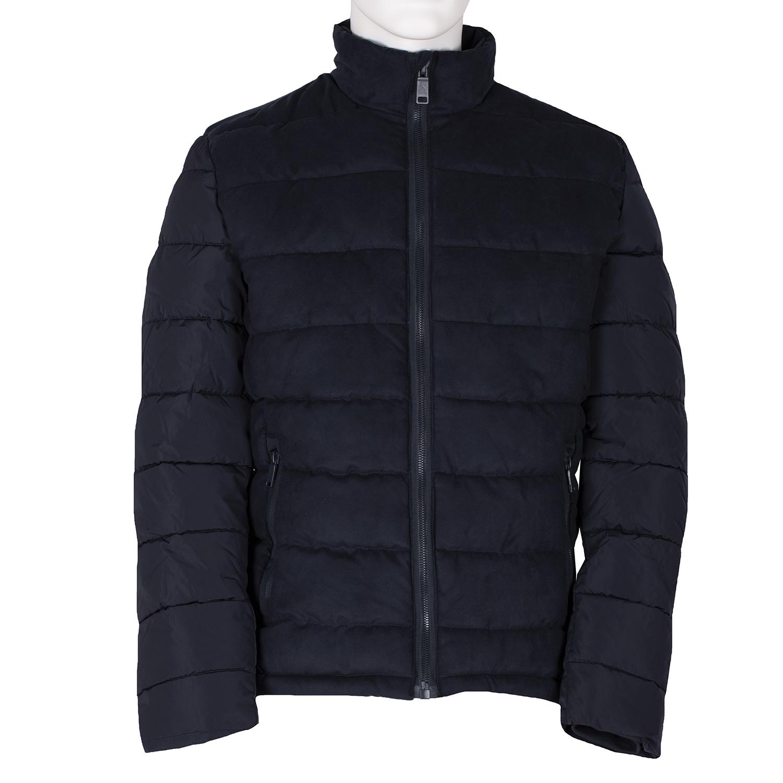 Modrá pánská prošívaná bunda