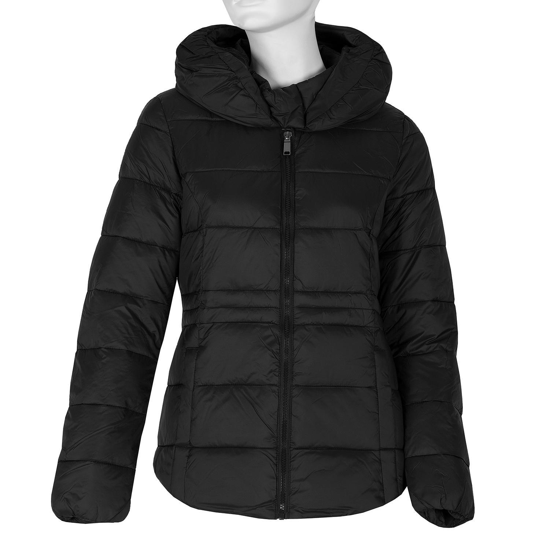 Černá dámská prošívaná bunda s kapsami