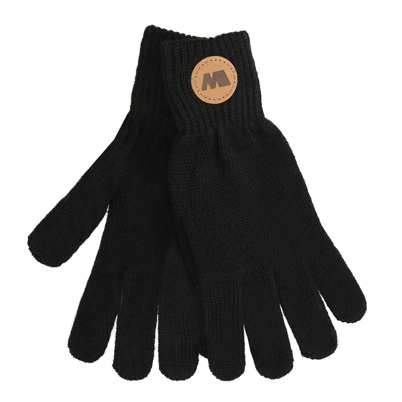 Černé rukavice s hnědým logem