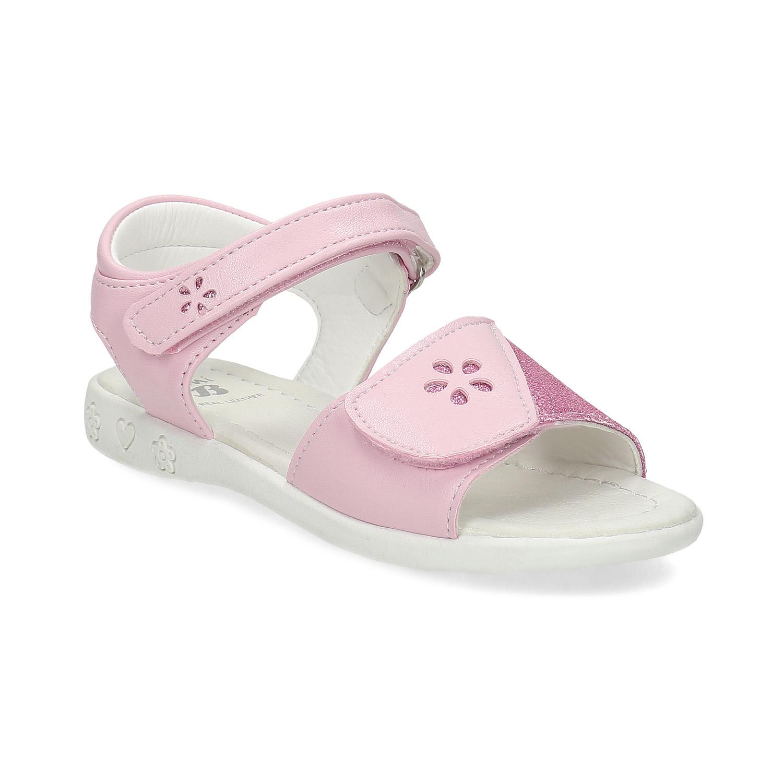 Ružové detské sandále na suchý zips