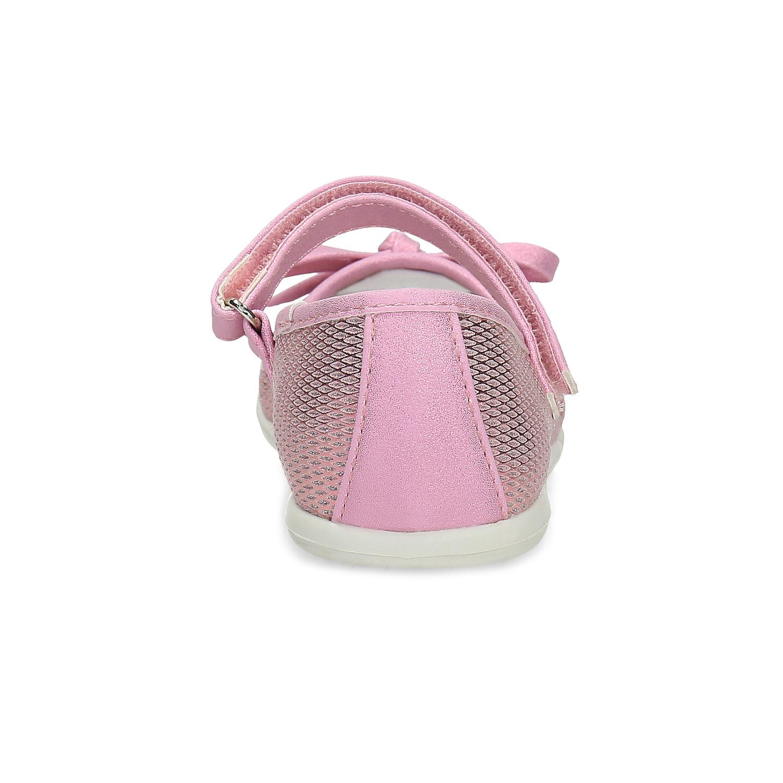 Růžové dětské baleríny s mašličkou