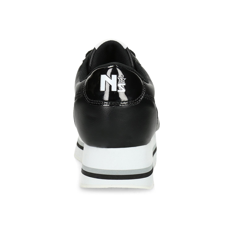 Černé dámské tenisky na výrazné flatformě
