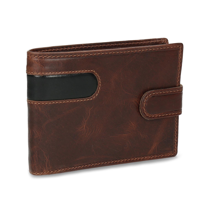 Kožená hnedá peňaženka pánska