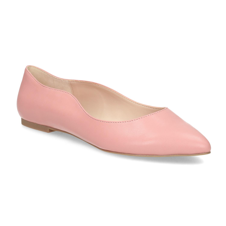 Dámské baleríny do špičky růžové