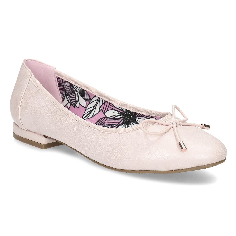 Ružové dámske baleríny
