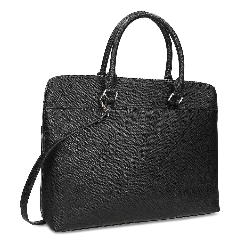 Dámska čierna taška s popruhom