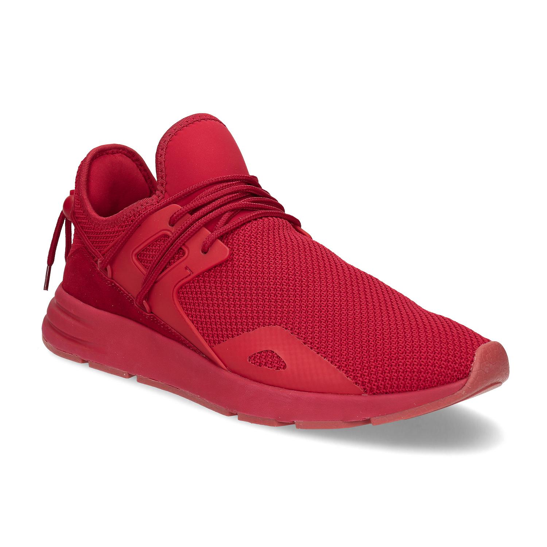 Červené pánske tenisky z úpletu