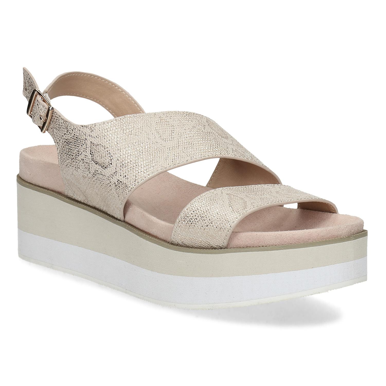 59dad58a9d Béžové dámské sandály na platformě