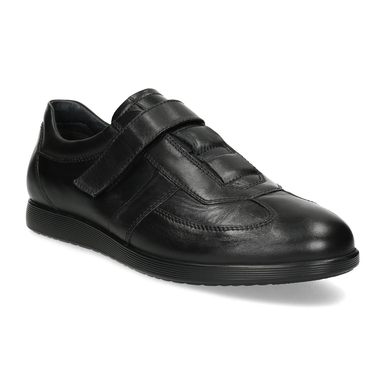 Pánska kožená obuv na suchý zips
