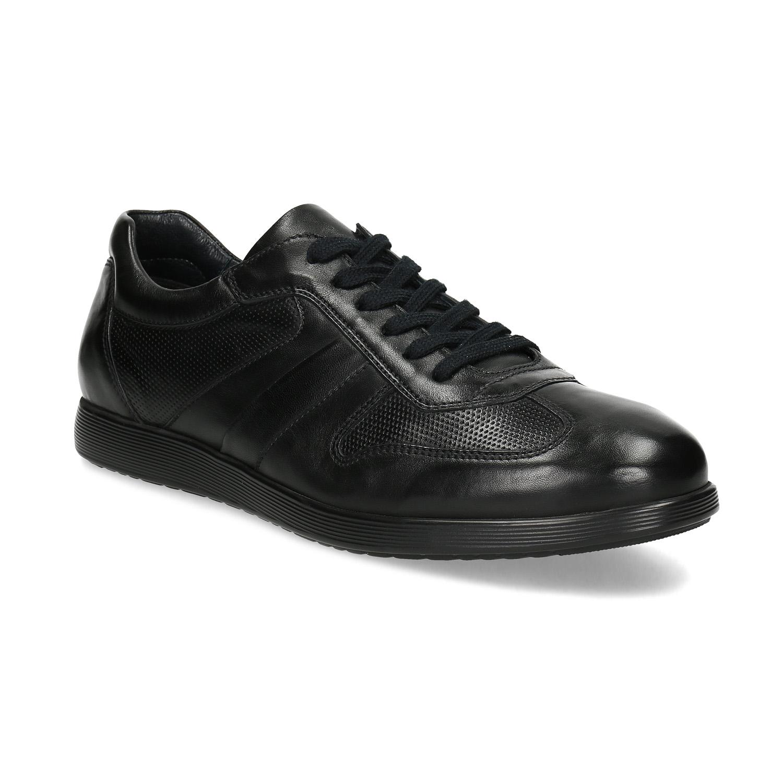 Pánske kožené čierne tenisky