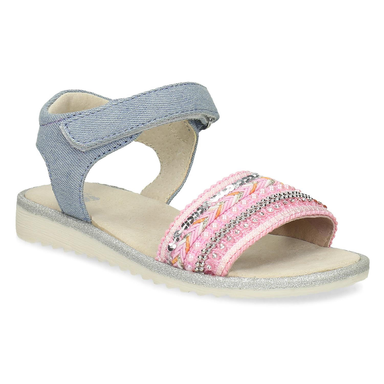 Dívčí sandály s kamínky růžové Bata.cz