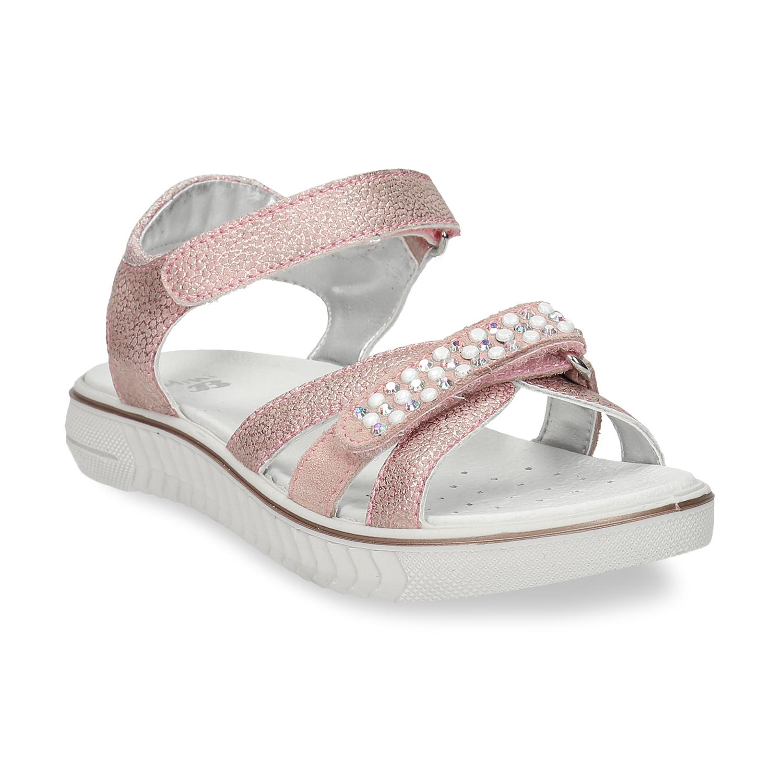 Dievčenské sandáliky na suchý zips ružové