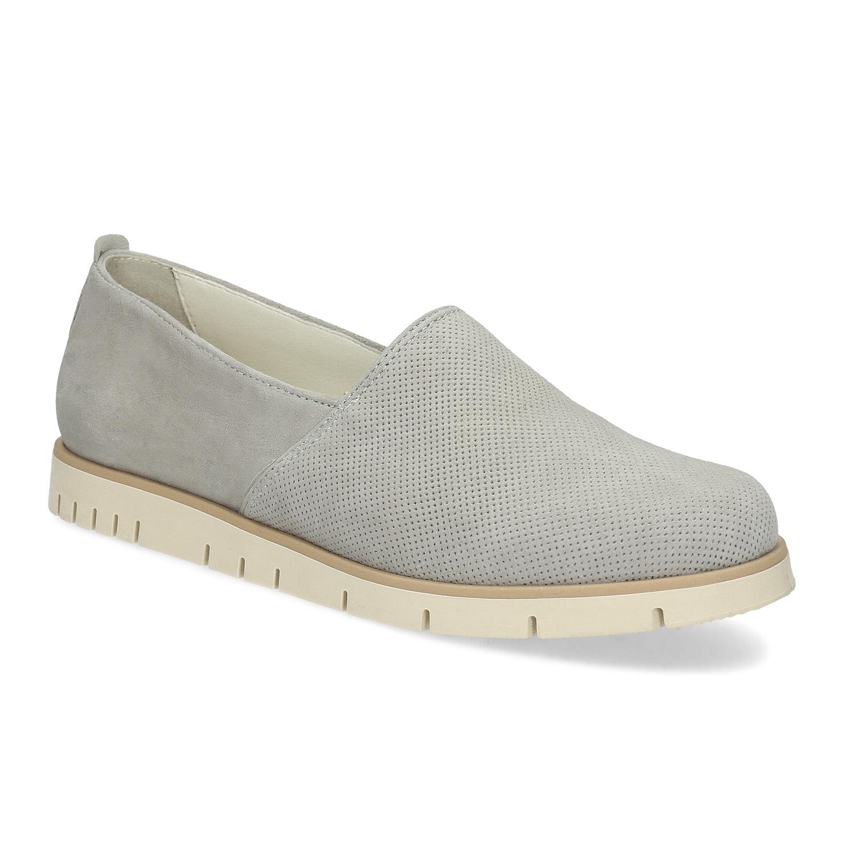 Kožená dámská Slip-on obuv s perforací