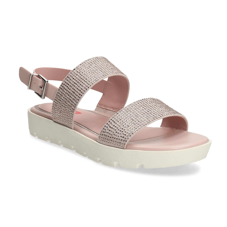 Sandále dámske ružové