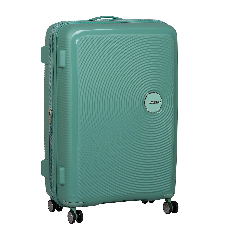 Zelený kufor škrupinový