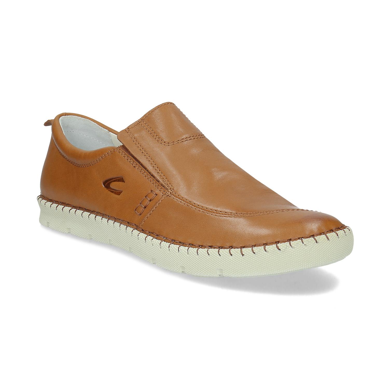 Pánska kožená obuv v štýle slip-on